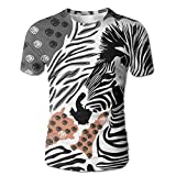 XIA WUEY Zebra Graffiti Art MenQuick Dry Baseball Tshirt Graphic Tees Tops For Workout