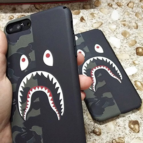 online retailer b77e0 06451 A Bathing Ape Bape Shark Protective Hard Case Cover for iPhone - Glow In  The Dark Case (IPHONE 7/8, GREEN/BLACK)