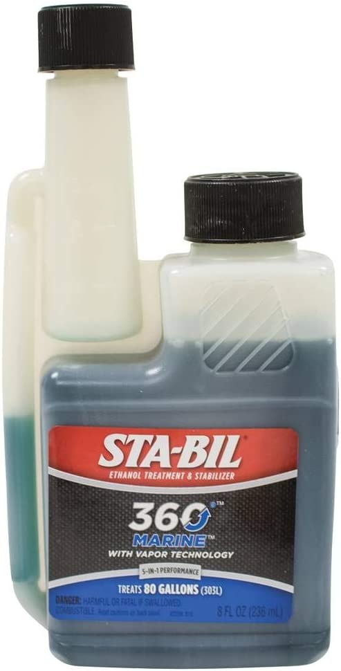 STA-BIL (22239) 360 Marine Ethanol Treatment and Fuel Stabilizer - Prevents Corrosion - Helps Clean Fuel System For Improved In-Season Performance -Treats Up To 80 Gallons, 8 fl. oz.