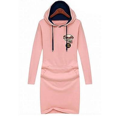 e2f5f5509ee6 OYMMENEY Damen Pullover Kapuze Lang Hoodie Sweatjacke Sweatshirts .