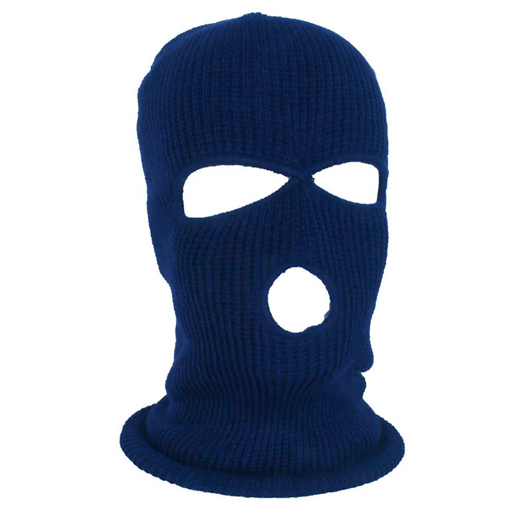 yanbirdfx Army Tactical Winter Warm Ski Cycling 3 Hole Balaclava Hood Cap Full Face Mask - Blue