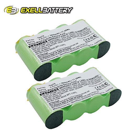 2x Ni-MH 4.8V Battery Replaces AEG