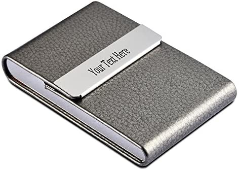 Amazon personalized 7 colors leather stainless steel custom personalized 7 colors leather stainless steel custom engraved business card holder case business giftgray colourmoves