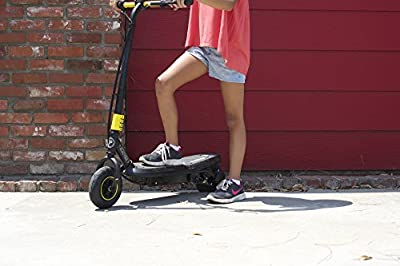 Pulse Performance Products Sonic XL Electric Scooter, Black/Yellow