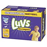 Diapers Size 5, 148 Count - Luvs Ultra Leakguards Disposable Baby Diapers, ONE MONTH SUPPLY (Packaging May Vary): more info