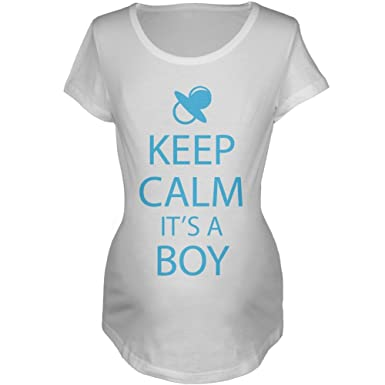 Amazon.com: Keep Calm It s a Boy Maternidad playera: Clothing