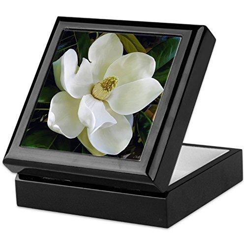 - CafePress - Magnolia - Keepsake Box, Finished Hardwood Jewelry Box, Velvet Lined Memento Box