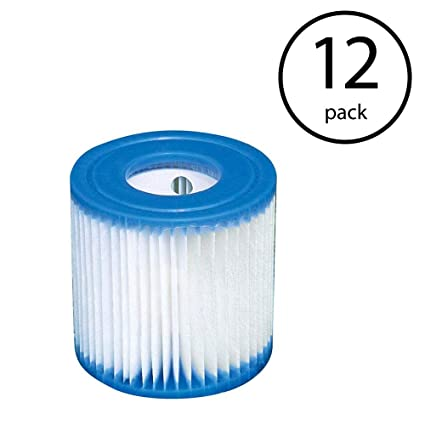 Intex Replacement 29007E Swimming Pool Filter Cartridge H - 12 Pack