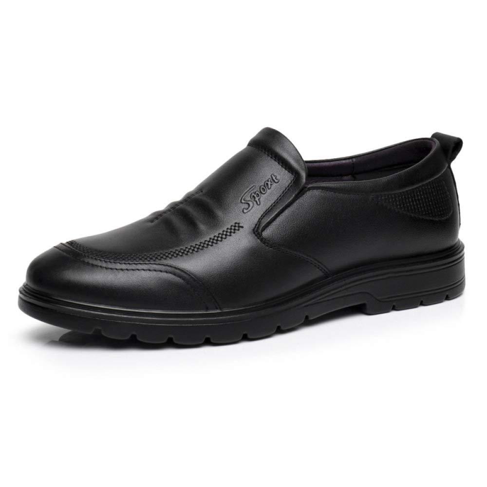 Zapatos Casuales para Hombres Zapatos Deportivos Slip-On para Hombres Classic Business 42 EU|Black
