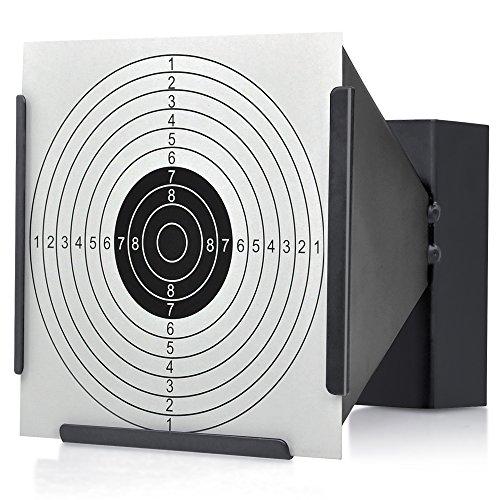 14 X 14 cm Cible Support + 100 cibles Air Piège à granulés Fusil Airsoft Noir Funnel 1