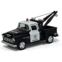 "5"" 1955 Chevy Stepside Pick-up Tow Truck (Police) 1:32 Scale by Kinsmart"