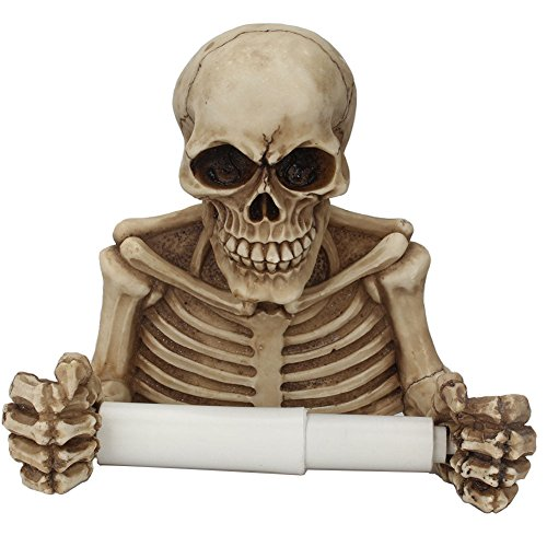 LSM store Hanging skull paper towel/roll paper rack bedroom/toilet paper reel/Toilet roll holder
