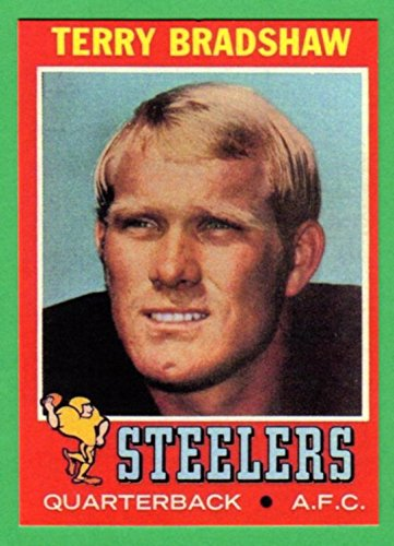 Terry Bradshaw 1971 Topps Football Reprint Card (Steelers)