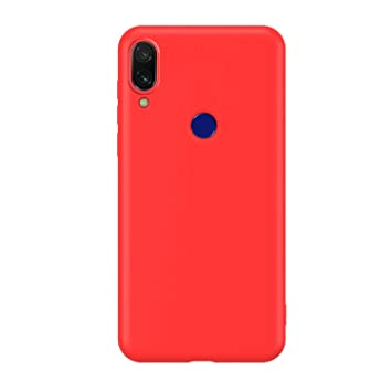 Funda Compatible con Xiaomi Mi 8 Lite, Carcasa de Silicona Líquida Gel Ultra Suave y Forro de Gamuza de Microfibra Cojín con Protector de Pantalla ...