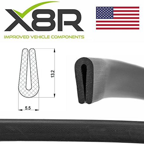 Black Flexible Rubber U Channel Edging Edge Seal Car Trim 1mm 2mm Material Kit Part: X8R0102