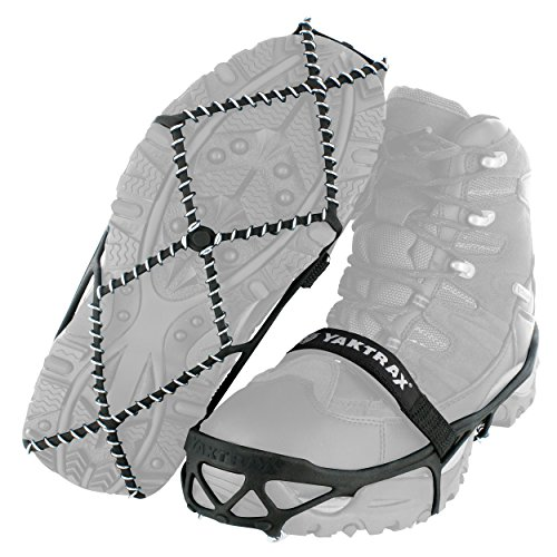 Yaktrax Pro Traction Cleats for Walking, Jogging, or Hiking on Snow and Ice, X-Large (Best Ice Cleats For Walking)