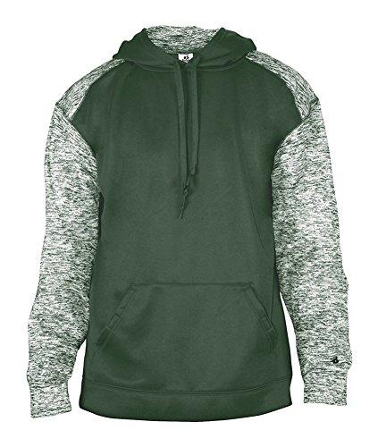 Badger Mens Blend Sport Hooded Sweatshirt (1462) -Forest/Fores (Badger Hooded Sweatshirt)