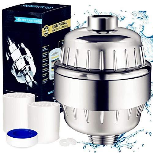 youtoo ducha filtro de agua Shower filtro ducha filtro 12 peldañ os ducha de agua Filte con 2 cartucho de filtros & tefló n banda Filtra contaminantes, cloro, metales pesados, agua erweichen