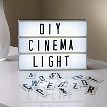 Caja de Luz de cine con 160 Letras, Números, Símbolos, Letras Ñ y ...