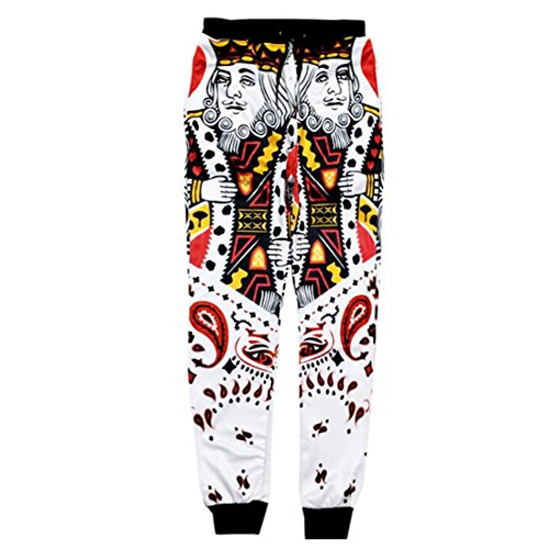 ADREAMONE Unisex 3D Printed Graphic Jogger Pants Trousers Casual Sweatpants 64fc40377f37