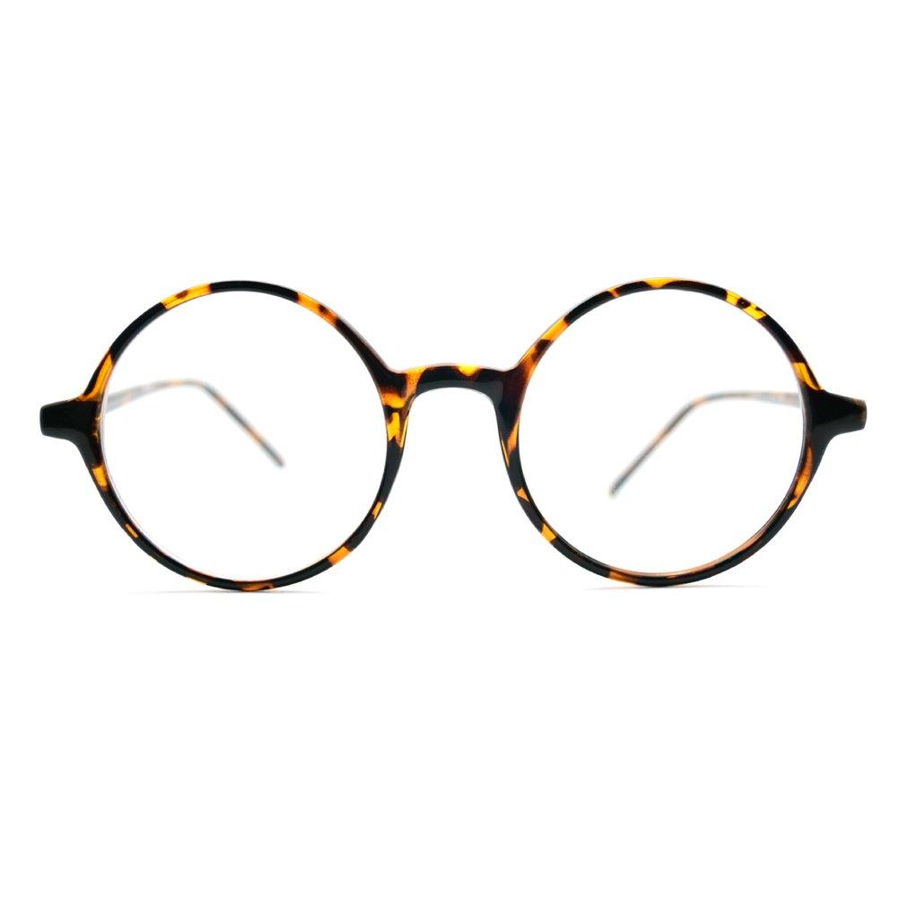 89a8dab9f9a 1920s Vintage Eyeglasses Frames Oliver Round Frames 019 Leopard Unisex  Eyewear Kpop Style  Amazon.co.uk  Clothing