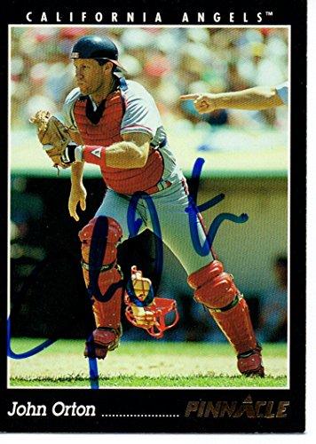 (John Orton California Angels 1993 Pinnacle Signed Card)