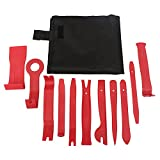 Pulusi 11Pcs Car Removal Tool Kit Auto Stereo Audio Trim Door Panel Window Molding Upholstery Fastener Clip