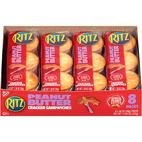 (Ritz Peanut Butter Cracker Sandwiches, 8 Count Individual Snack Packs)