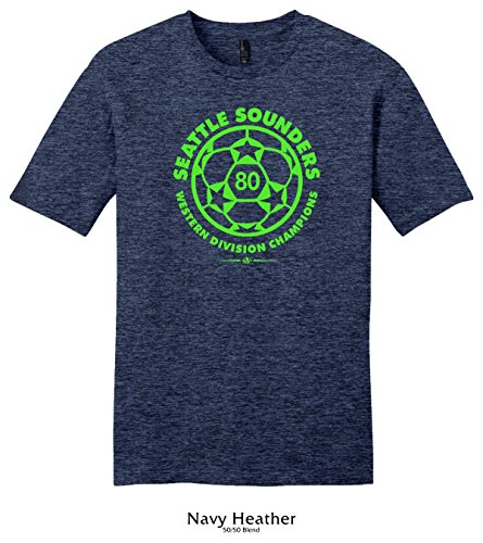 Throwbackmax 1980 Seattle Sounders Western Division Champs Soccer Tee Shirt (3X, Navy ()