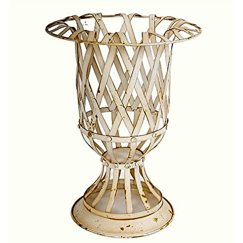 Metal Lattice Urn Planter Vase D10