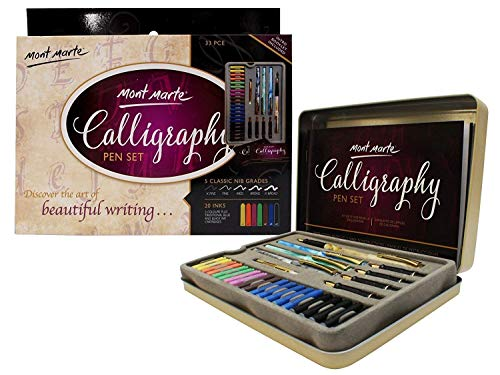 Mont Marte Calligraphy Set, 33 Piece. Includes Calligraphy
