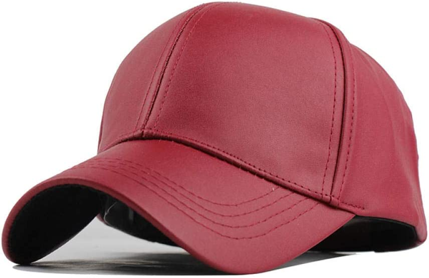 Winter PU Leather Caps Baseball Cap Biker Trucker Casquette Snapback Hats for Men Women Hats and Caps F238