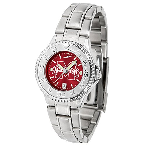 New Linkswalker Mississippi State Bulldogs Ladies' Steel Anochrome Watch ()