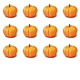 Factory Direct Craft 12 Harvest Orange Velvety Mini Pumpkins