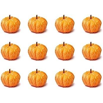 Factory Direct Craft 12 Harvest Orange Velvety Mini Pumpkins