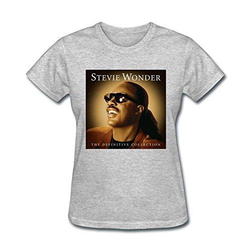 Price comparison product image JUXING Womens Stevie Wonder The Definitive Collection T-shirt Size XXL ColorName