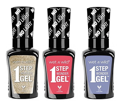Wet n Wild 1 Step Wonder Nail color Gel 3-pc bundle (718A, 725A, 729A)