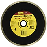 IVY Classic 38184 Diamond Plus 6-Inch Wet Tile Cutting Continuous Rim Diamond Blade with 5/8-Inch Arbor, 1/Card