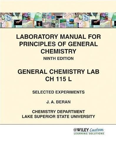 amazon com laboratory manual for principles of general chemistry rh amazon com Biochemistry Lab Organic Chemistry Lab Manual
