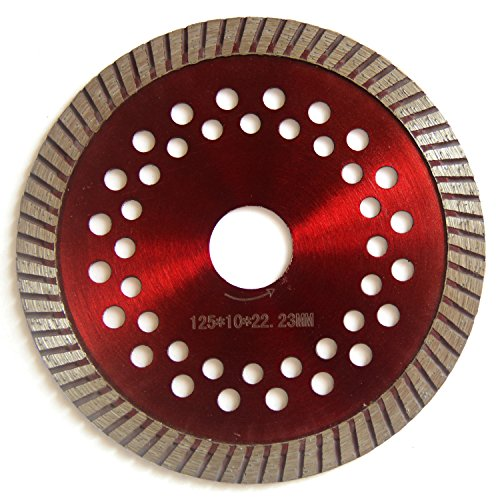 Easy Light 5 Inch Rim Diamond Saw Blade Cutting Segment with 7/8-Inch Arbor for Tile Masonry Stone