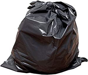 13 Gallon 2MIL Strong Tough Kitchen Trash Bags,Black, Made in USA, 24X30 (200)