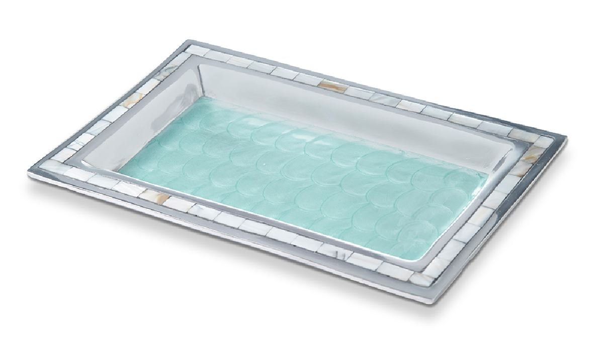 Julia Knight 7722053 Bath Collection Vanity Tray, One Size Aqua by Julia Knight (Image #1)