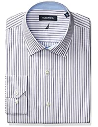 Nautica Men's Navy/Grey Stripe Dress Shirt