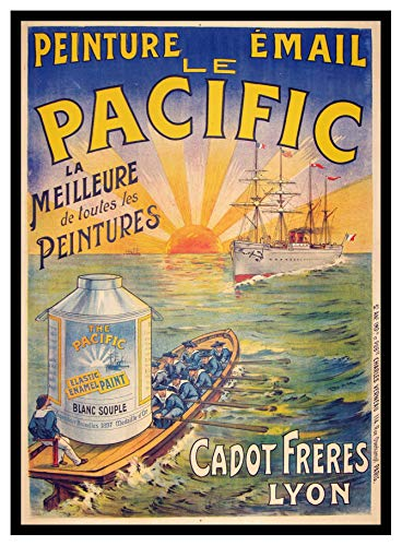 (Iron Ons 8 x 10 Photo Pacific Paint Vintage Old Advertising Campaign Ads)