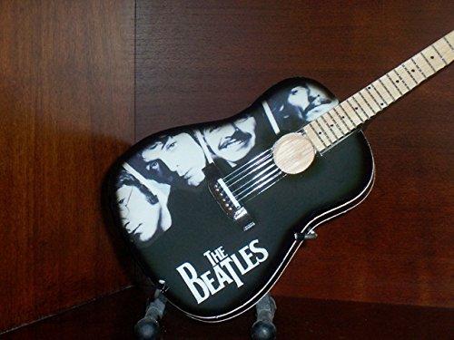 Mini Acoustic Guitar BEATLES MCCARTNEY LENNON Portrait Display GIFT ()