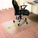 LITTLE TREE Non-slip Chair Mat for Hard/Carpet Floor Protector HomeOffice Transparent Polycarbonate (PC) Floor Mat Easyroll-Sueface High Impact Strength (180x90cm)
