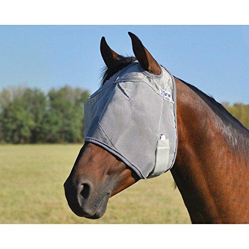 Ears Foal - Cashel Crusader Standard Fly Mask No Ears or Nose Gray - Size: Mini, Foal