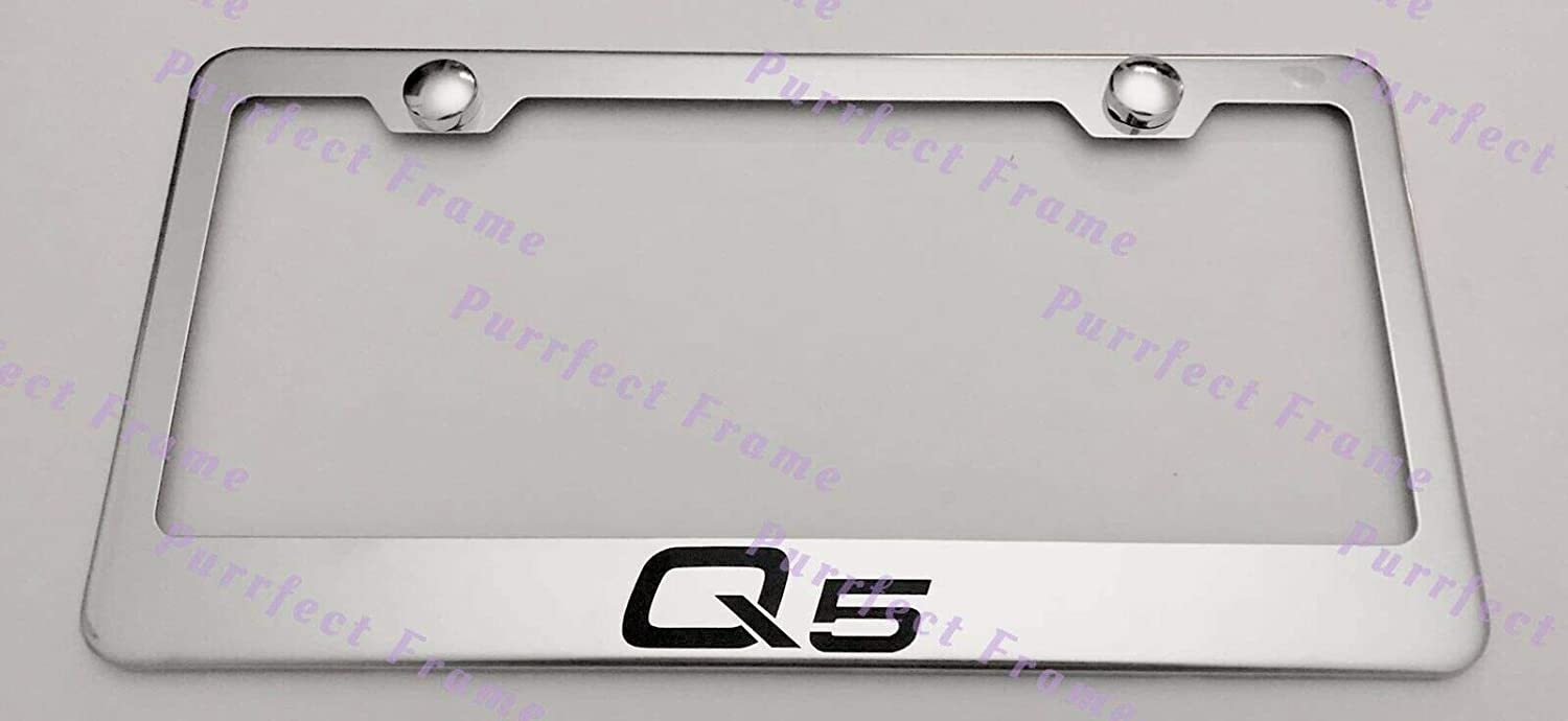 AUDI Stainless Steel License Plate Frame Rust Free W// Bolt Caps