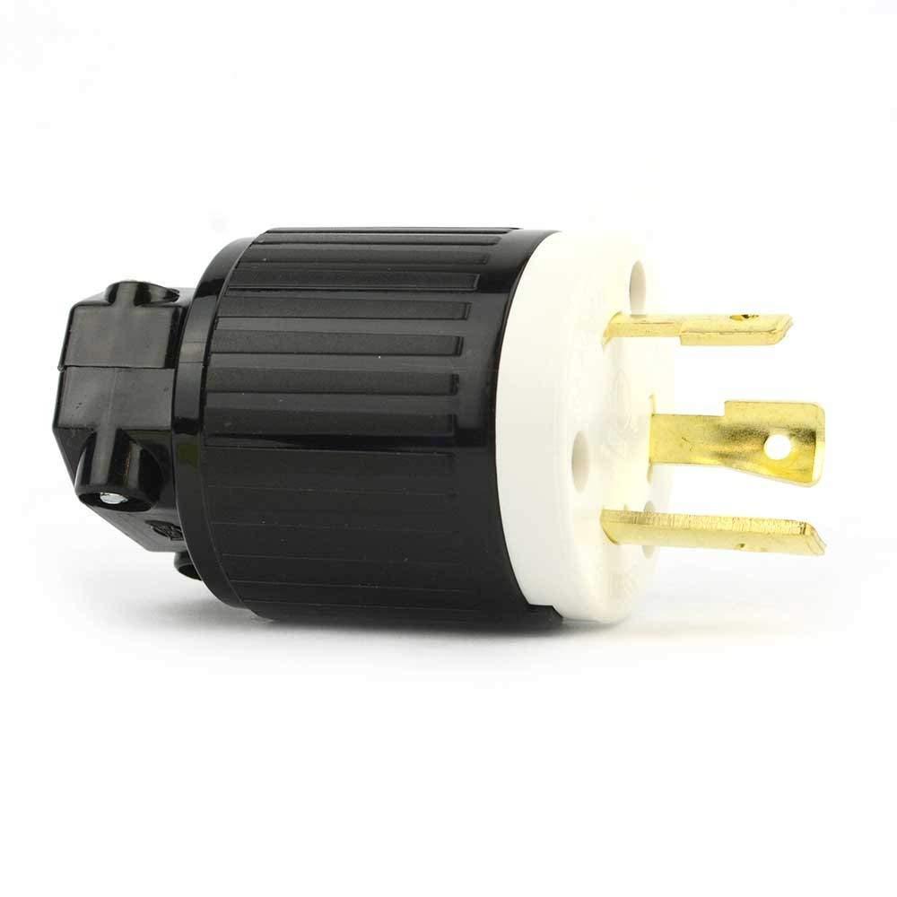 Superior Electric YGA017 Twist Lock Electrical Plug 3 Wire, 30 Amps, 250V, NEMA L6-30P (15)