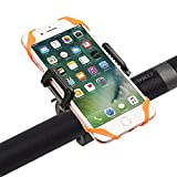 Vansky Bike Mount Bicycle Phone Holder, Holder Cradle for Smartphone iPhone GPS Devices with 360 Degrees Rotatable, Rubber Strap (Black)